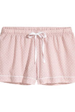 Pyjama shirt and shorts - Light pink/Stars -  | H&M GB 3