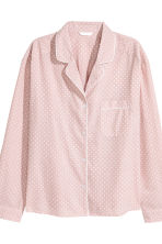 Pyjama shirt and shorts - Light pink/Stars -  | H&M GB 4
