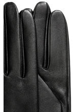 Leather gloves - Black - Ladies | H&M CA 2