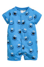 2-pack all-in-one pyjamas - Blue/Sesame Street - Kids | H&M 2