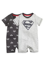2-pack all-in-one pyjamas - Grey/Superman - Kids | H&M CN 1
