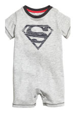 2-pack all-in-one pyjamas - Grey/Superman - Kids | H&M CN 3