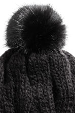 Cable-knit hat - Black - Ladies | H&M CN 2