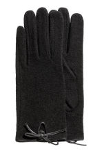Wool-blend gloves - Black - Ladies | H&M CA 1