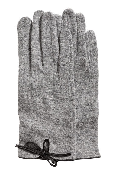 Wool-blend gloves - Grey marl - Ladies | H&M
