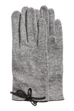Wool-blend gloves - Grey marl - Ladies | H&M CA 1