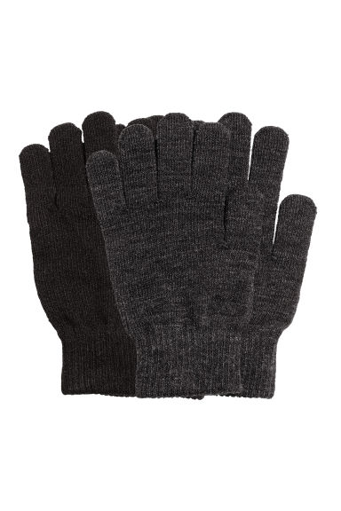 2-pack gloves - Black/Grey - Ladies | H&M CN