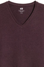 Long-sleeved T-shirt Slim fit - Burgundy - Men | H&M CN 3