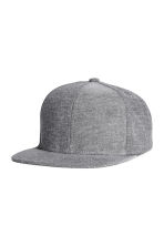 Cotton-blend cap - Grey - Men | H&M CN 1