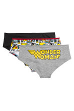 3-pack cotton hipster briefs - Red/Wonder Woman - Ladies | H&M 2