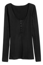Henley shirt - Black - Ladies | H&M 2