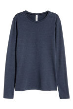 Long-sleeved jersey top - Dark blue -  | H&M 2