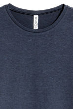 Long-sleeved jersey top - Dark blue -  | H&M 3