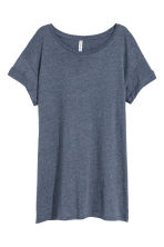Long T-shirt - Dark blue melange - Ladies | H&M CA 2