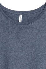 Long T-shirt - Dark blue melange - Ladies | H&M CA 3