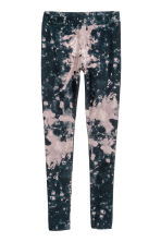 Patterned leggings - Black/Pink patterned - Ladies | H&M 2