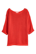 Purl-knit jumper - Red - Ladies | H&M IE 2