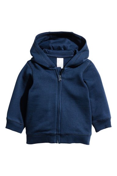 Hooded jacket - Dark blue - Kids | H&M CN 1