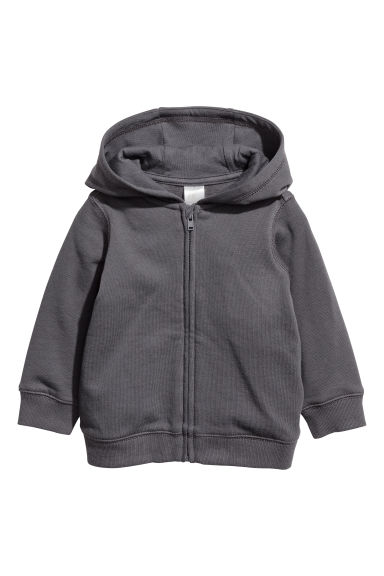 Hooded jacket - Dark grey -  | H&M CN