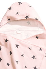 Hooded towel - Light pink/Stars - Home All | H&M CN 2