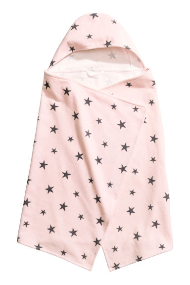 Hooded towel - Light pink/Stars - Home All | H&M CN 1