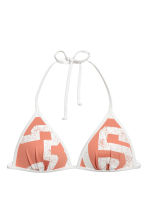 Push-up triangelbikinitop - Abrikoos/wit - DAMES | H&M NL 2