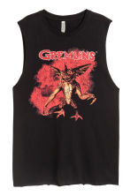 Printed vest top - Black/Gremlins - Ladies | H&M CN 2