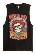 Printed vest top - Black/Grateful Dead - Ladies | H&M CN 1