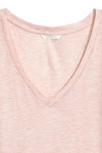 V-neck top - Powder pink - Ladies | H&M 2