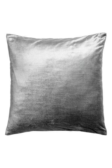 Velvet cushion cover - Grey - Home All | H&M CN