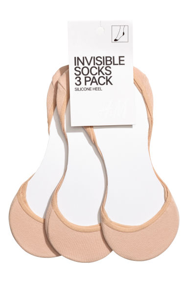 3-pack mini socks - Light beige - Ladies | H&M 1