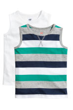2件入上衣 - Grey/Striped - Kids | H&M 1