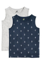 2件入上衣 - Dark blue/Anchor -  | H&M 2