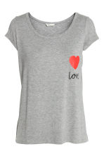MAMA Nursing top - Grey/Love - Ladies | H&M 1