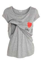 MAMA Nursing top - Grey/Love - Ladies | H&M 2