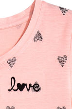 Printed nightdress - Powder pink/Hearts - Kids | H&M CN 2