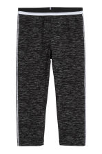 3/4-length leggings - Black marl -  | H&M CN 2