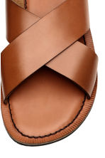 Leather sandals - Cognac brown - Men | H&M 3