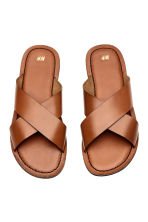 Leather sandals - Cognac brown - Men | H&M 2