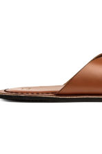Leather sandals - Cognac brown - Men | H&M 4