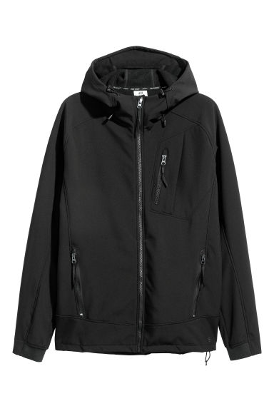Softshell jacket - Black - Men | H&M CN