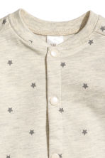 Sweatshirt cardigan - Light beige marl/Stars - Kids | H&M 2
