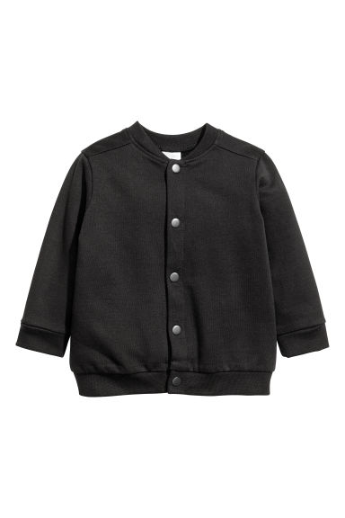 Sweatshirt cardigan - Black - Kids | H&M CN 1
