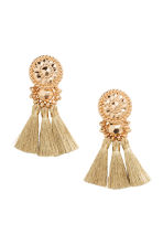 Earrings with tassels - Gold - Ladies | H&M CN 1