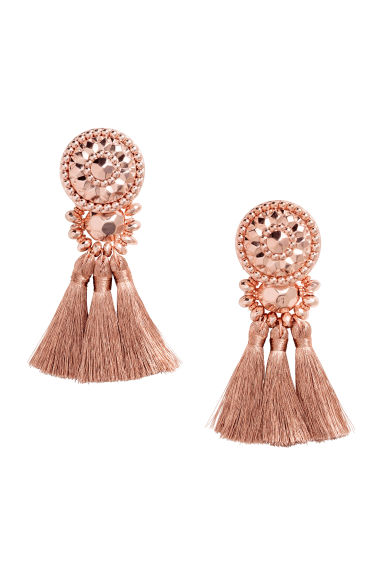 Earrings with tassels - Rose gold - Ladies | H&M CN