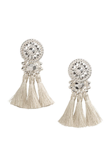 Earrings with tassels - Silver - Ladies | H&M 1