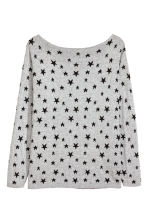 H&M+ Fine-knit jumper - Grey/Stars - Ladies | H&M CN 2