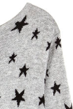 H&M+ Fine-knit jumper - Grey/Stars - Ladies | H&M CN 3