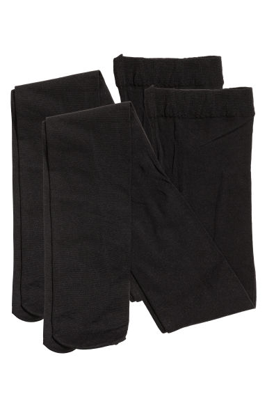 2-pack thin tights - Black - Kids | H&M 1