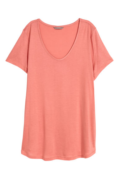 H&M+ Jersey top - Coral - Ladies | H&M